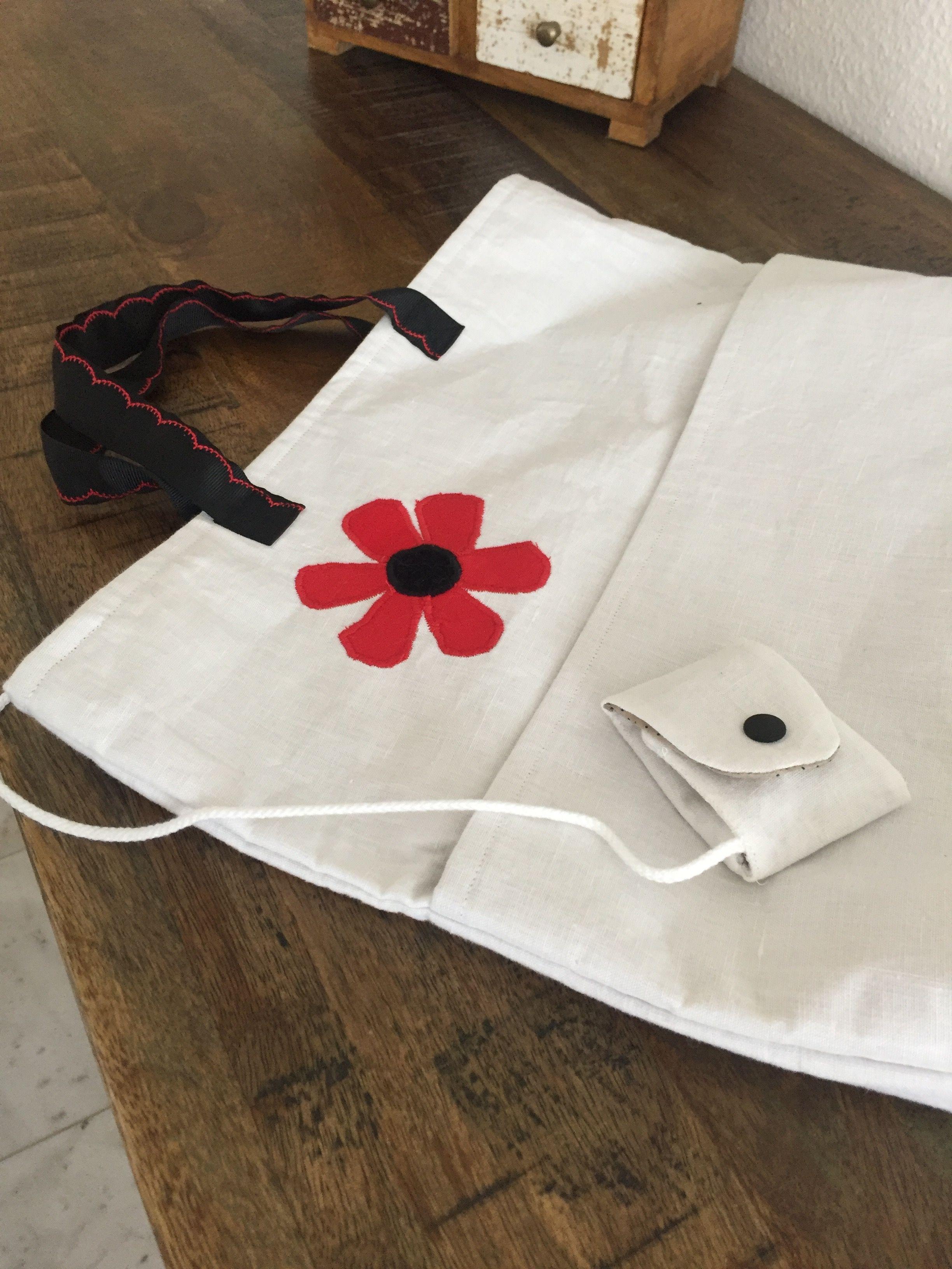 Einkaufstasche mit kleinem Täschen für den Chip. Die Grundidee habe ich von http://www.stoffzentrale.ch/fileadmin/Bilder/bilder/Anleitungen_der_Ideen/Nadeletui.pdf