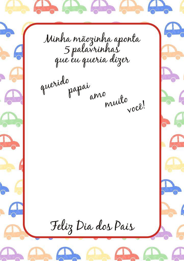 Resultado De Imagem Para Cartão Dia Dos Pais Educação Infantil