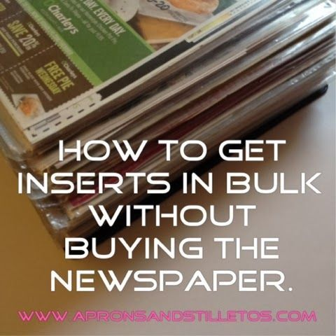 How To Get Coupon Inserts In Bulk Aprons And Stilletos Coupon Inserts Couponing For Beginners Grocery Coupons