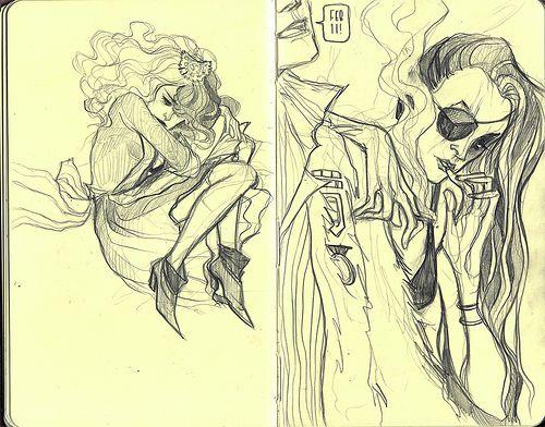 February Sketches. by Annie Wu., via Flickr