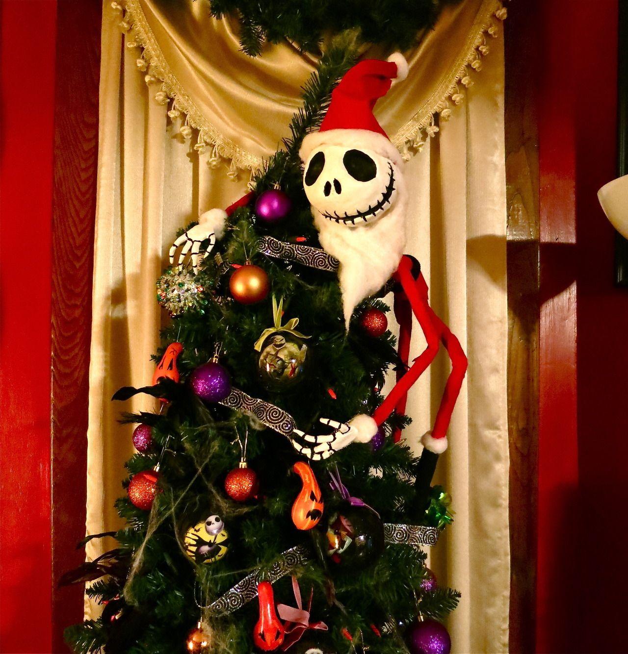 Art By Lavinia My Jack Skellington Christmas Tree Topper I Diy Christmas Tree Topper Nightmare Before Christmas Tree Christmas Tree Toppers