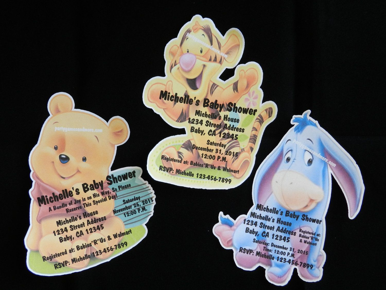 Unique Personalized Baby Shower Winnie the Pooh, Tigger or Eyore ...