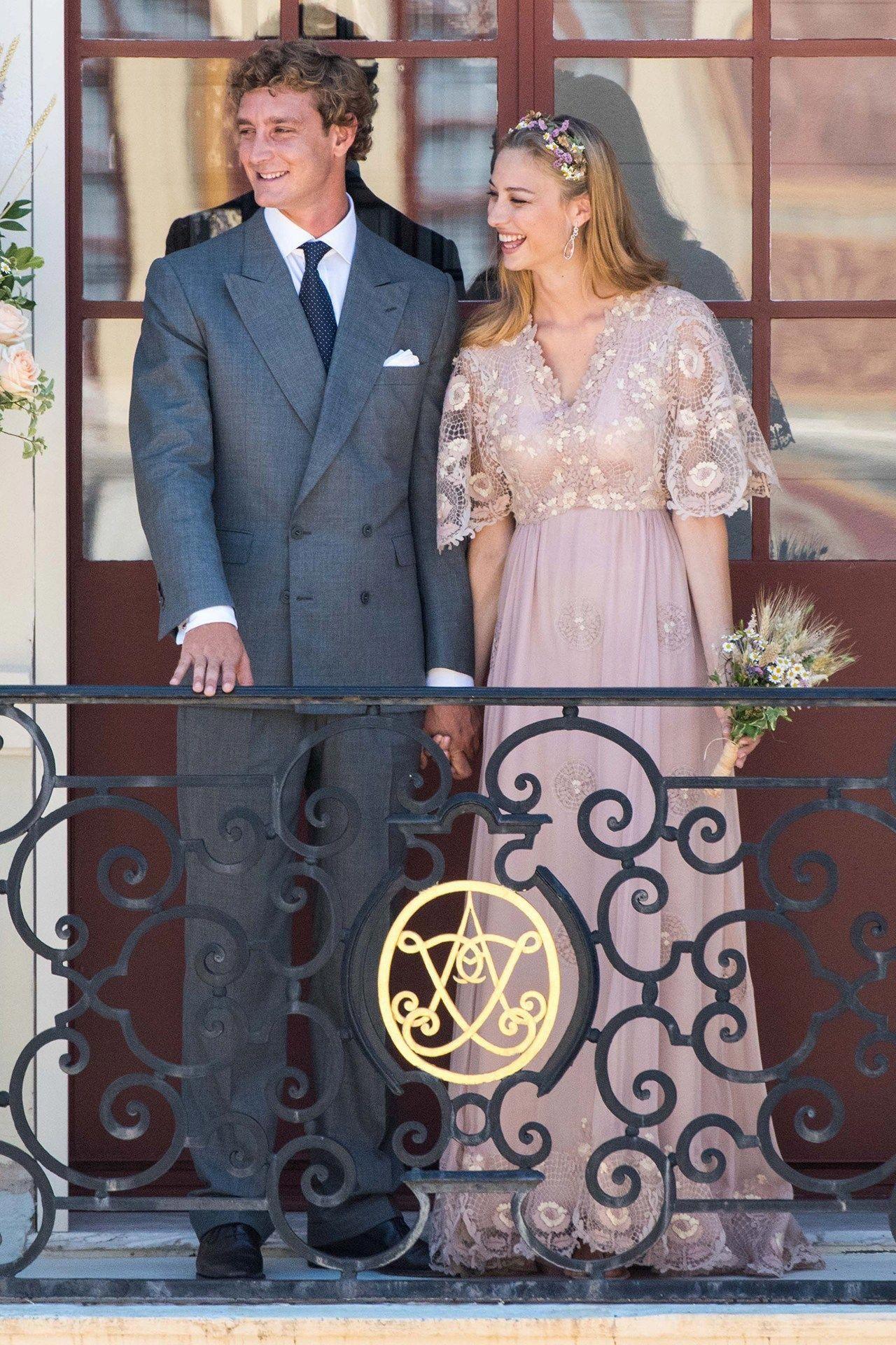 Beatrice Borromeo Pierre Casiraghi Wedding Valentino Dress Vogue Co Uk Valentino Celebrity Bride Royal Wedding Dress Valentino Wedding Dress