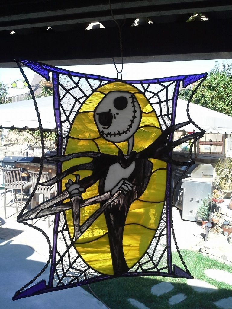 Custom Made Stained Glass - Jack Skellington | Craftie Glassie ...
