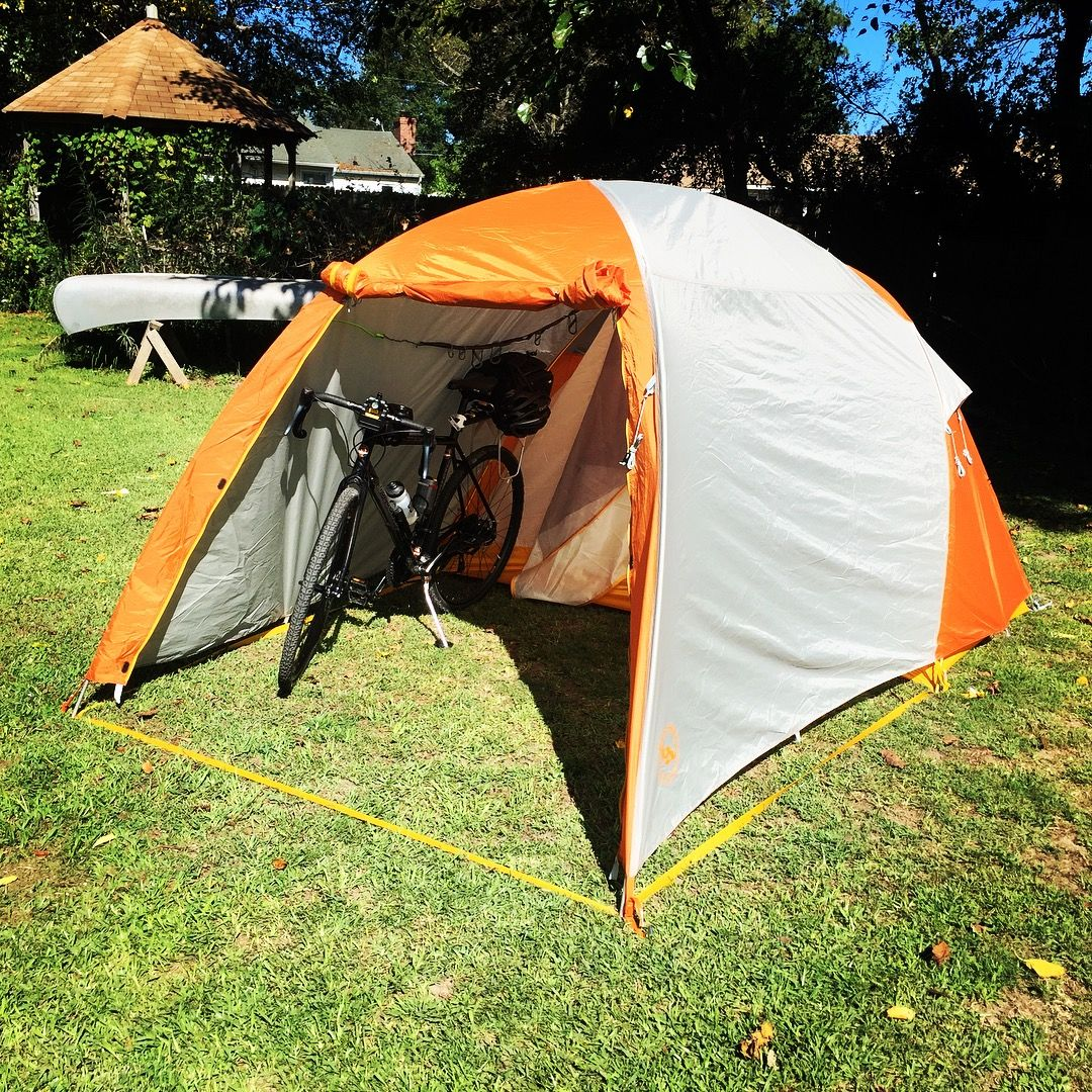 Big Agnes Wyoming Trail 2 tent. Very cool tent with a garage. & Big Agnes Wyoming Trail 2 tent. Very cool tent with a garage ...