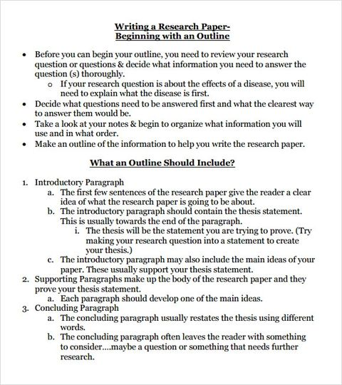 Free 8 Sample Research Paper Outline Templates In Pdf In 2020 Research Paper Outline Template Research Paper Outline Research Paper