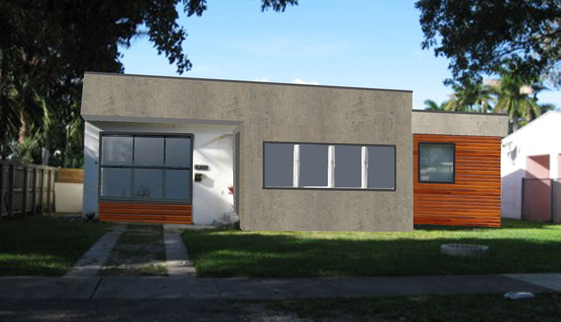mid century modern ranch house stucco - google search | suncliff