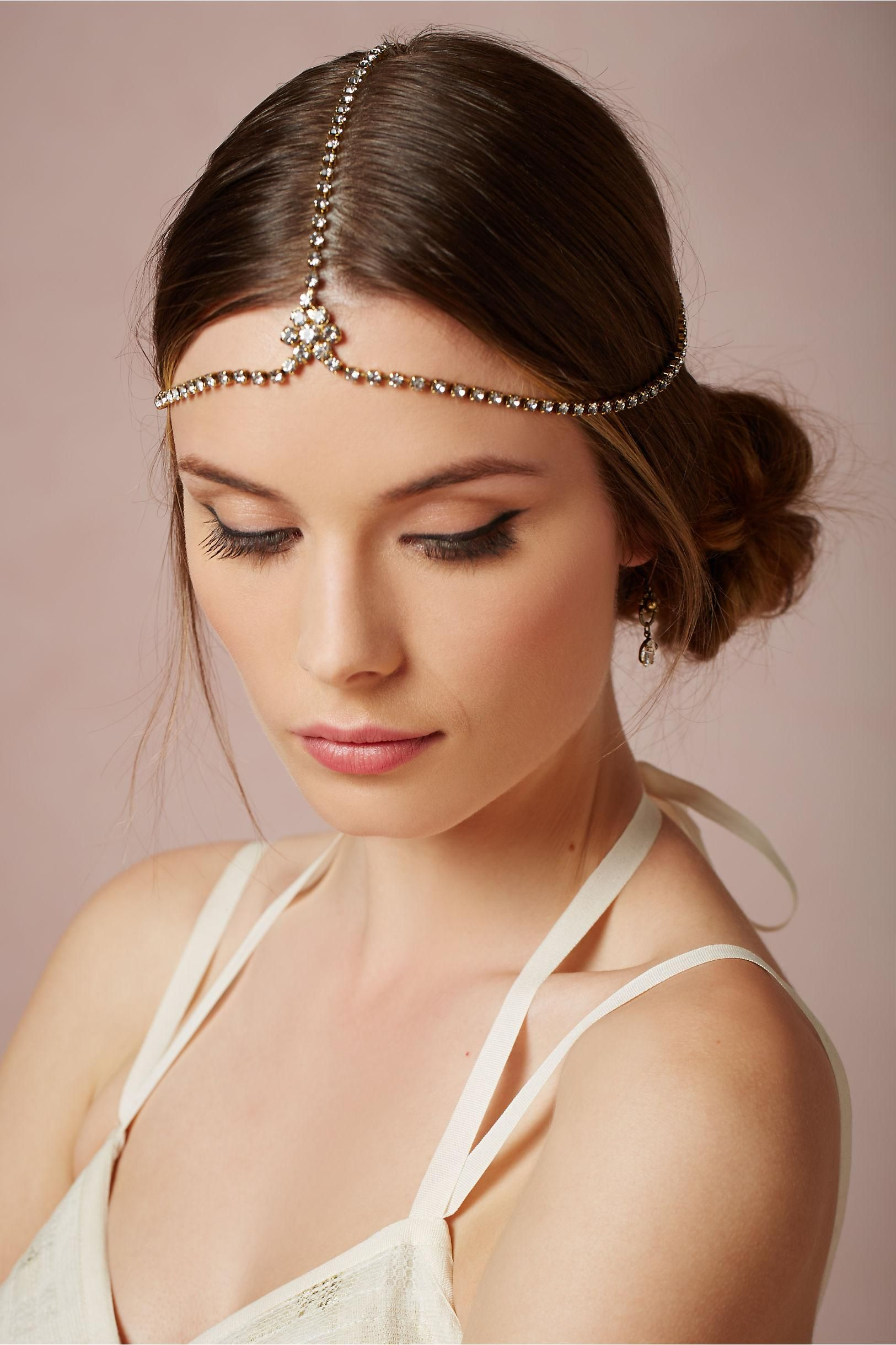 Regnant halo from bhldn inspired by drippy deco bridal headpieces