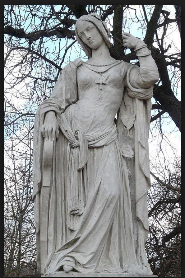ROMANTISMO Auguste Préault (1809 - 1879) was een Franse beeldhouwer, Romantische stijl. - Clémence Isaure, Parijs Jardin Luxembourg