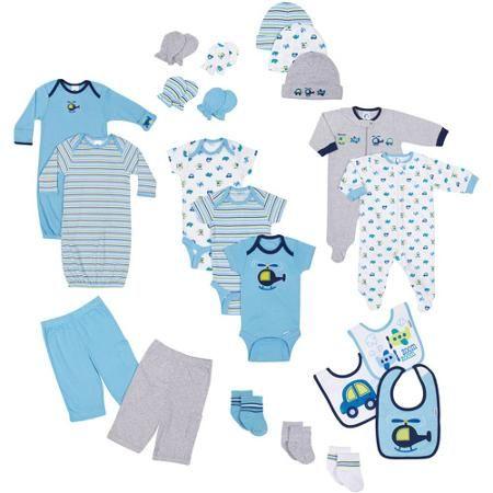 247d85859 Gerber Newborn Baby Boy 22-Piece Essential Layette Set ...