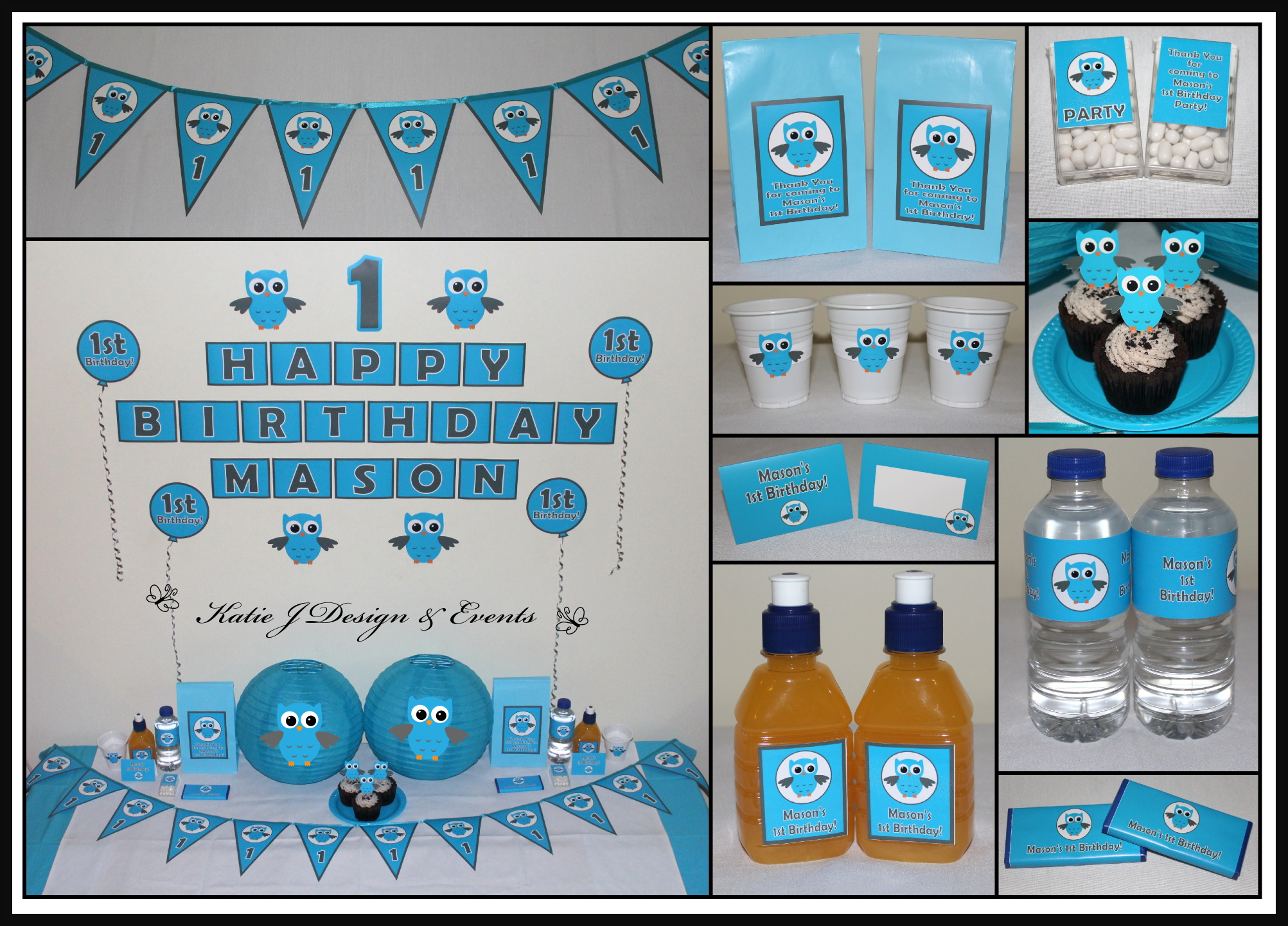 Owls (boy) | Baby shower boys, Owl birthday parties and Owl parties