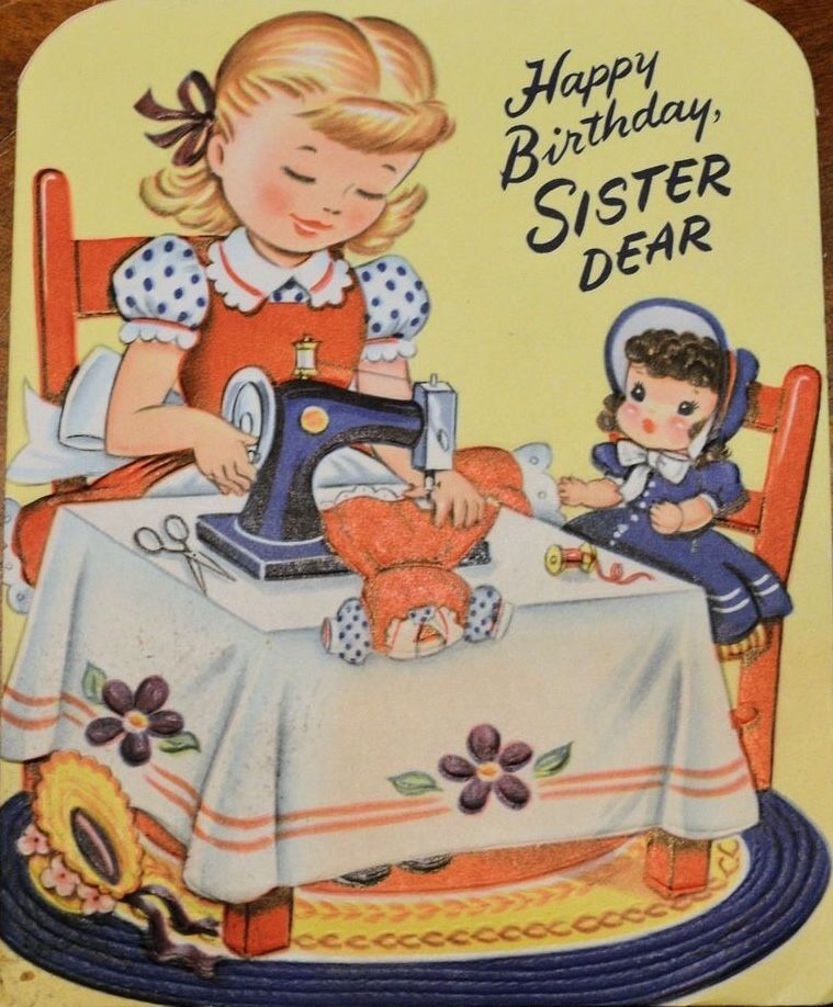 Pin By Daniele On Girls. Vintage Birthday Cards (With
