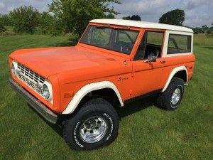 1974 Ford Bronco Orange 9 Ford Bronco Classic Bronco Bronco