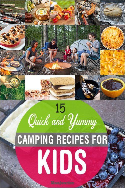 15 schnelle und leckere Camping Rezepte für Kinder   - Camping food -