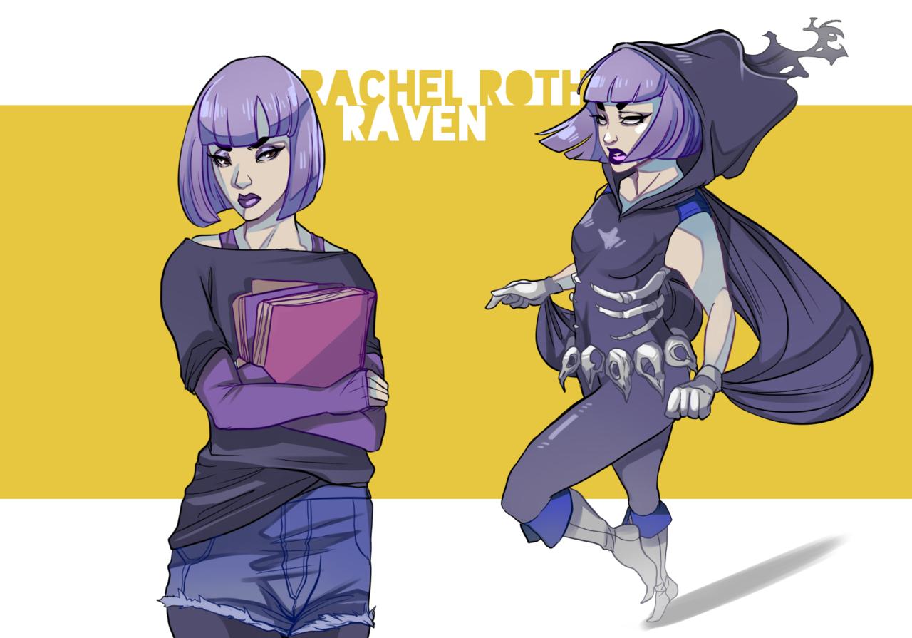 نتیجه تصویری برای raven dc fan art Pinterest