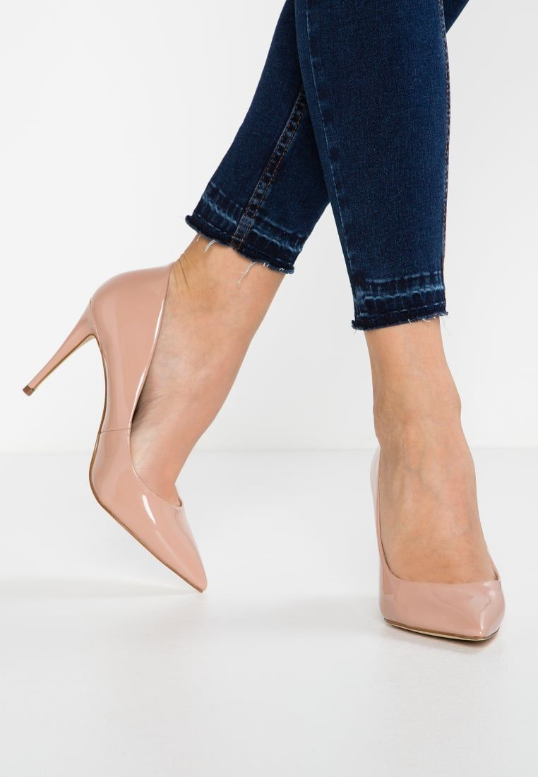 Sexy Nude Open Toe Single Sole Chunky High Heels Patent