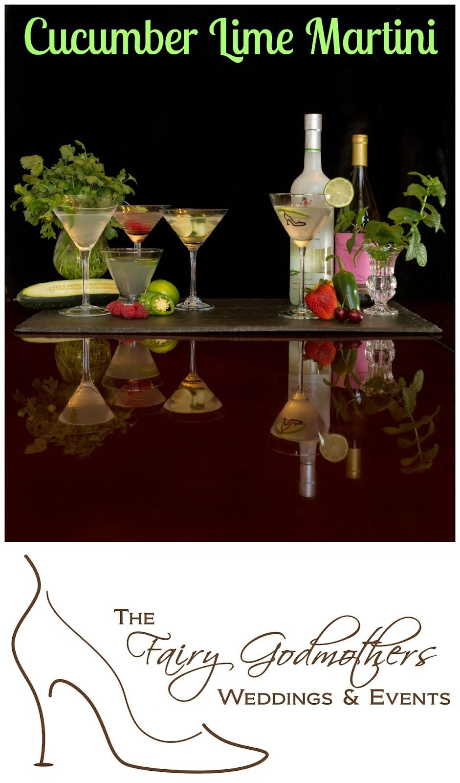 Cucumber Lime Martini Signature Drink Station Via Your Very Own
