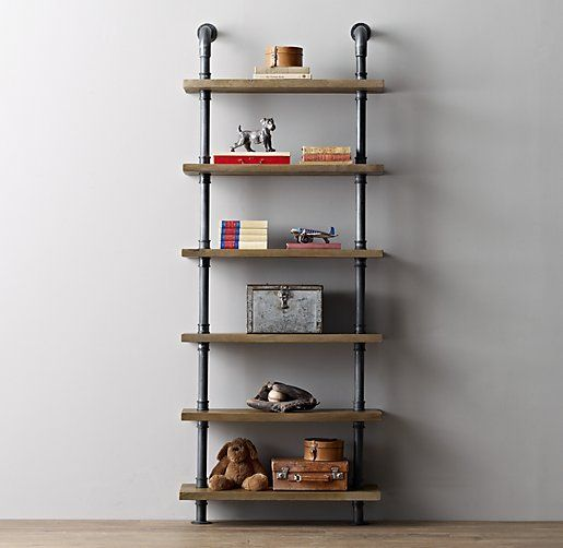 Im making this!!! Industrial Pipe Shelving I want this in the garage apt. kitchen, open shelving!