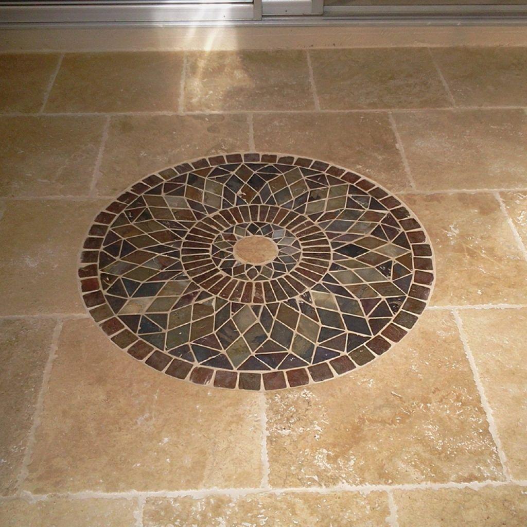 Medallion Floor Tile Designs Bathroom tile floor designs