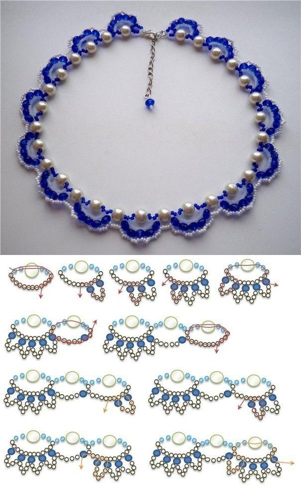 DIY Fashion Beads Bracelet PERLAS CON CHAQUIRA… | pulseras ...