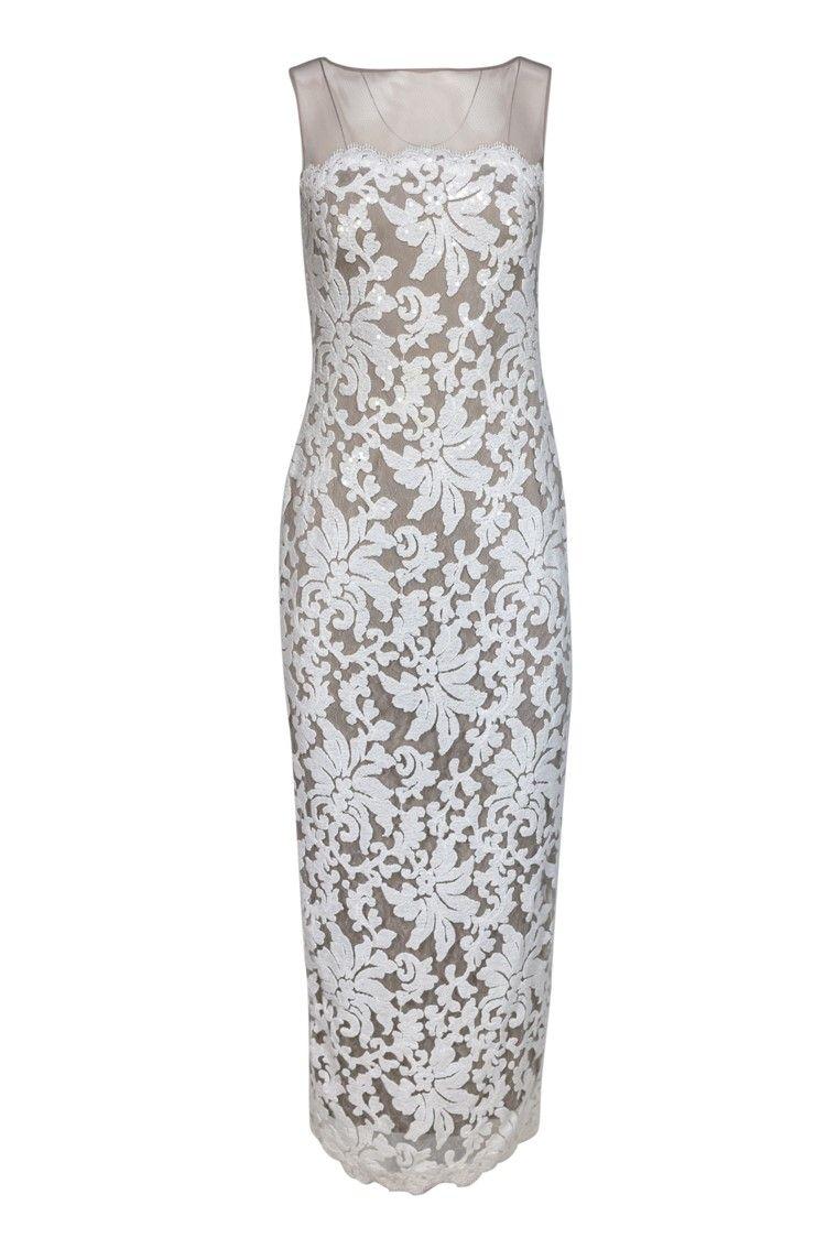 Tadashi Shoji White Sequin Lace Gown Sz 4 Ad Spon White Shoji Tadashi Sequin Sz Formal Dresses Lace Gown Tadashi Shoji [ 1124 x 750 Pixel ]