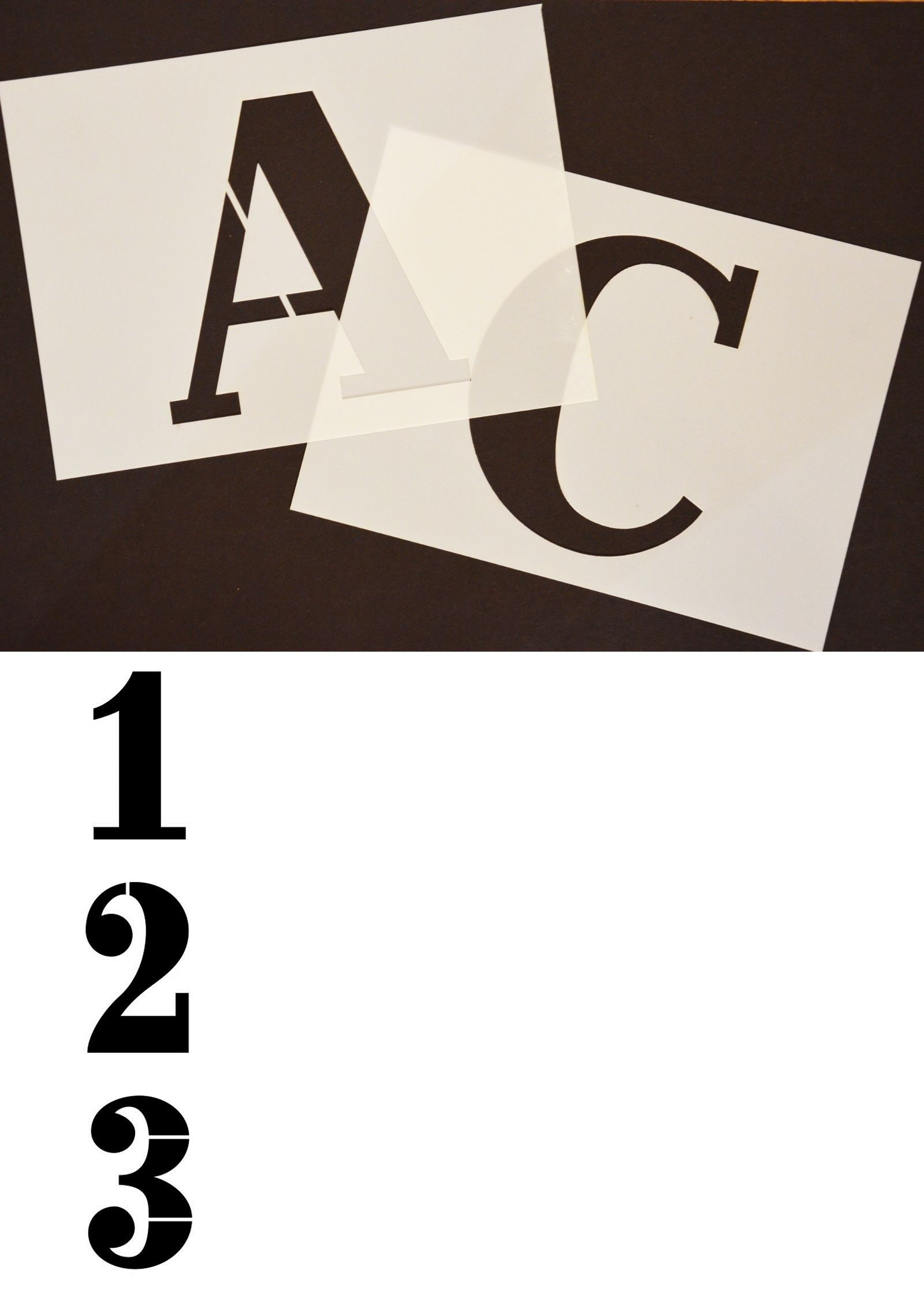 Cutting Templates Big Alphabet plete Set Stencil
