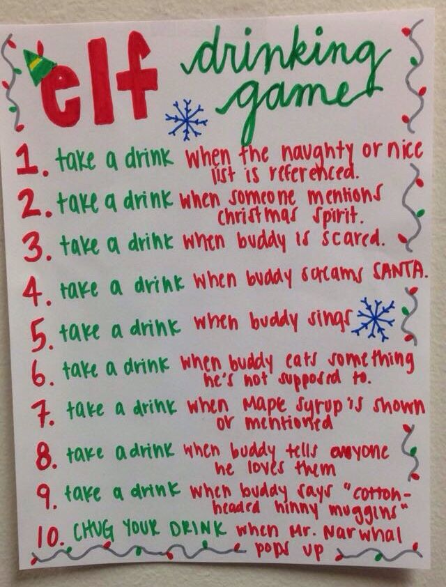 christmas drinking party ideas