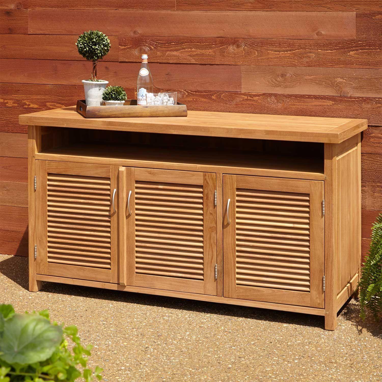 Teak Outdoor Buffet With Storage