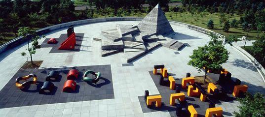 noguchi built  moerenuma park in sapporo