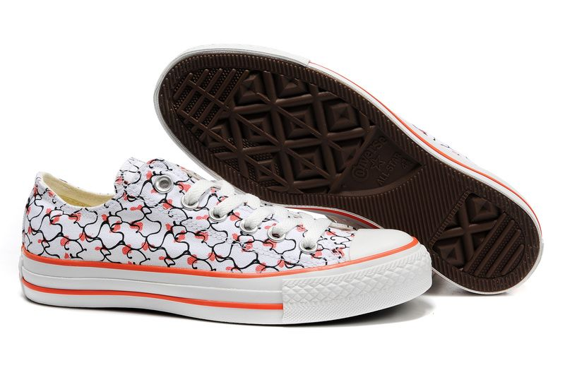 Outlet USA Wild Womens Converse All Star shoes white red Quality