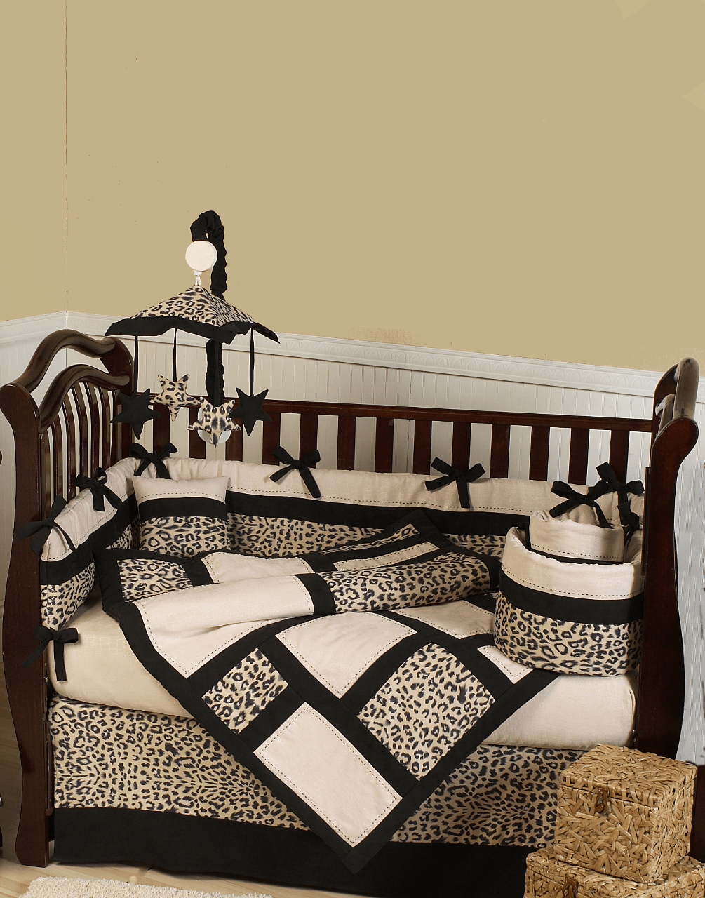 Leopard Baby Bedding 9pc Cheetah Print Crib Bedding And