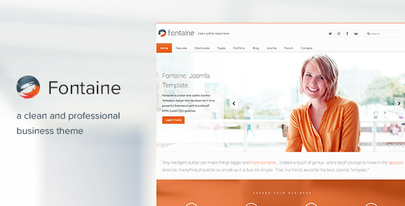 Fontaine responsive business joomla template template joomla fontaine responsive business joomla template accmission Images