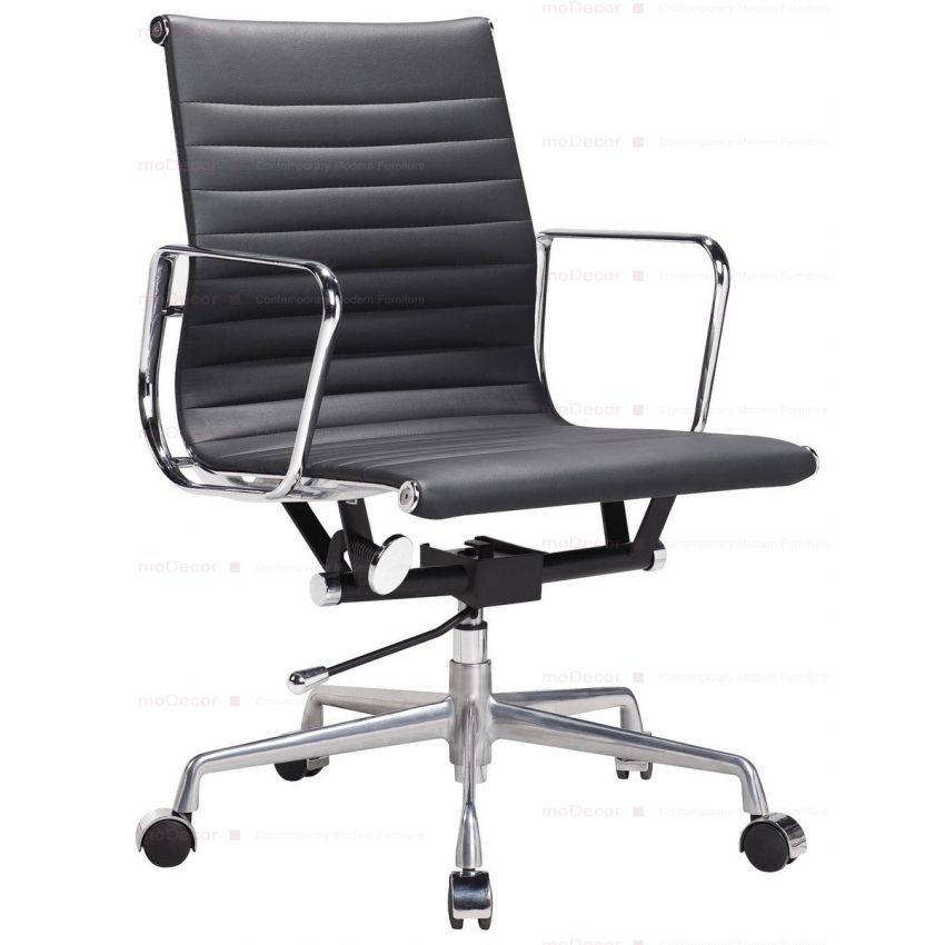 Terrific Eames Black Leather Office Chair Modecor Furnitures Alphanode Cool Chair Designs And Ideas Alphanodeonline