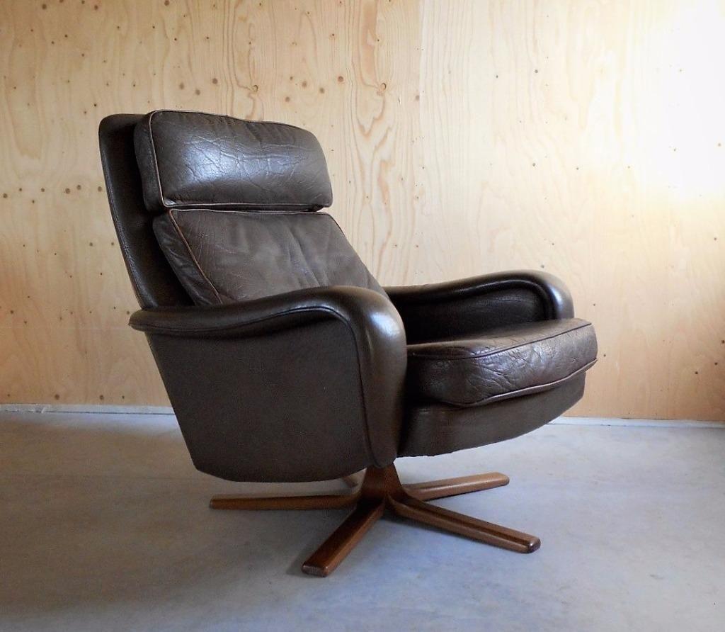 Bureaustoel Kopen Marktplaats.Vintage Deens Design Leren Fauteuil Jaren 60 Bovenkamp