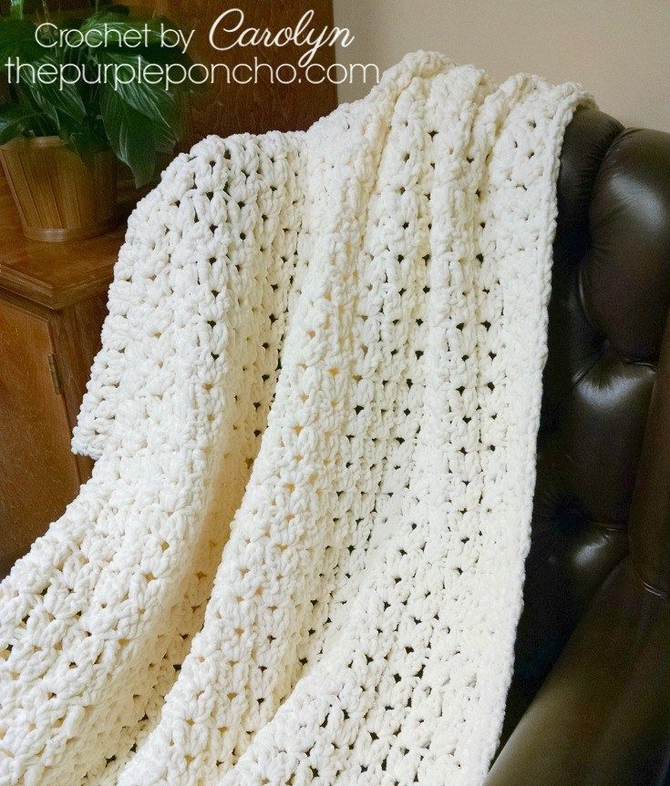 Simple Vintage Blanket – Free Crochet Pattern – The Purple Poncho ...