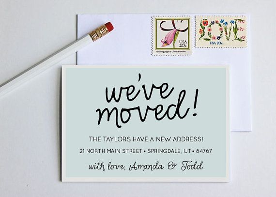 moving announcement change of address new home by