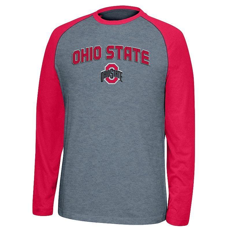Men's Ohio State Buckeyes Home Plate Tee, Size: XL, Grey