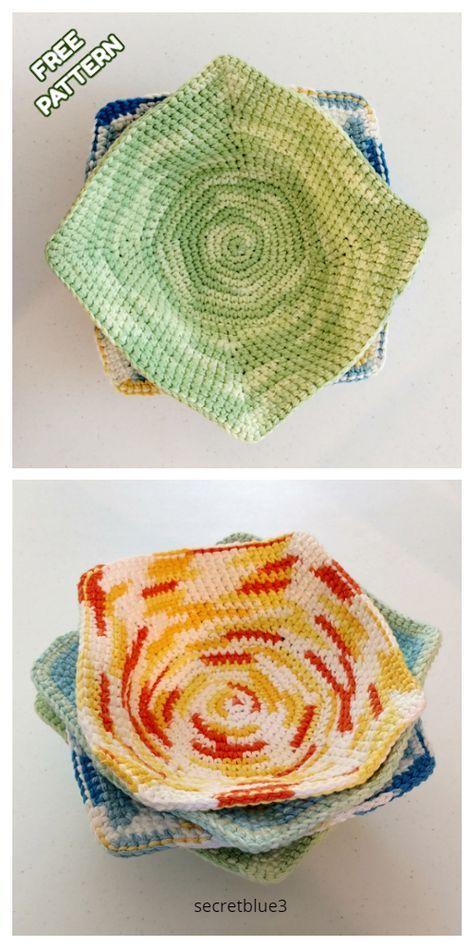 Bowl Cozy Hot Pad Free Crochet Patterns - DIY Magazine -   15 knitting and crochet Free Patterns hot pads ideas