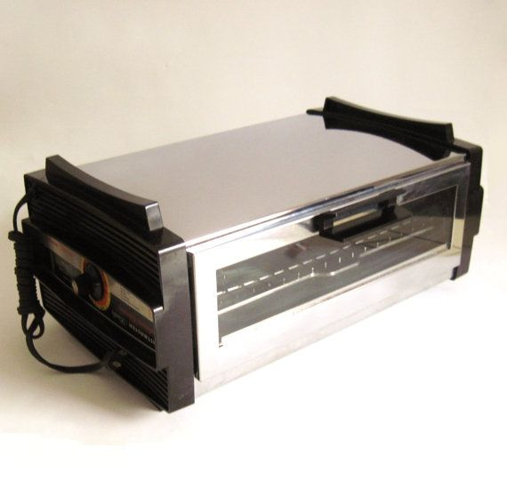 Toastmaster Toaster Oven Broiler Chrome 1970s Toaster Oven Retro Toaster Vintage Toaster