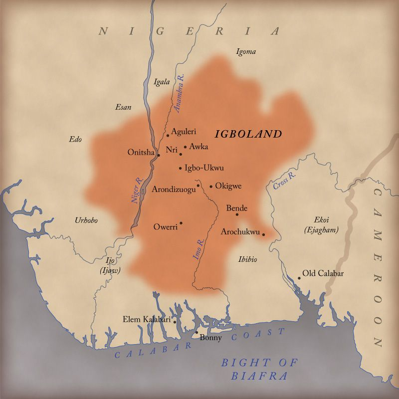 Custom Map Gallery Historical Map of Igboland