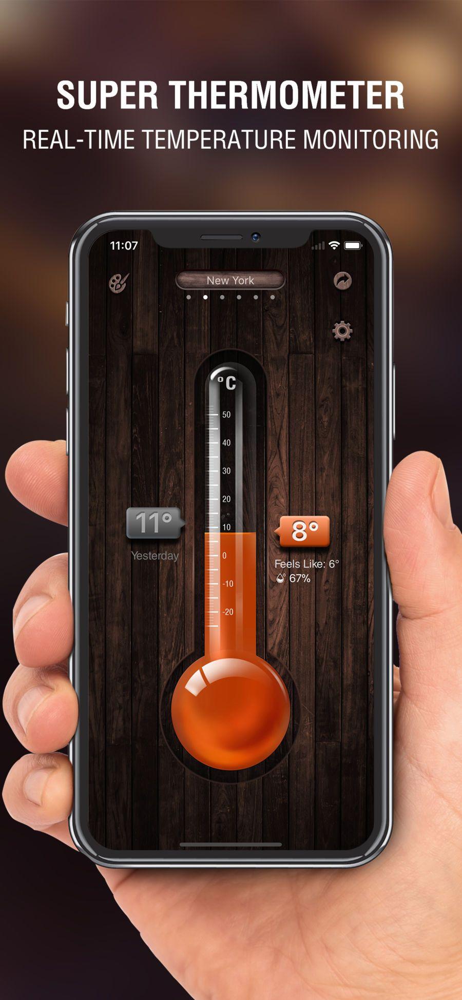 Digital thermometer app weatherlimitediosutilities