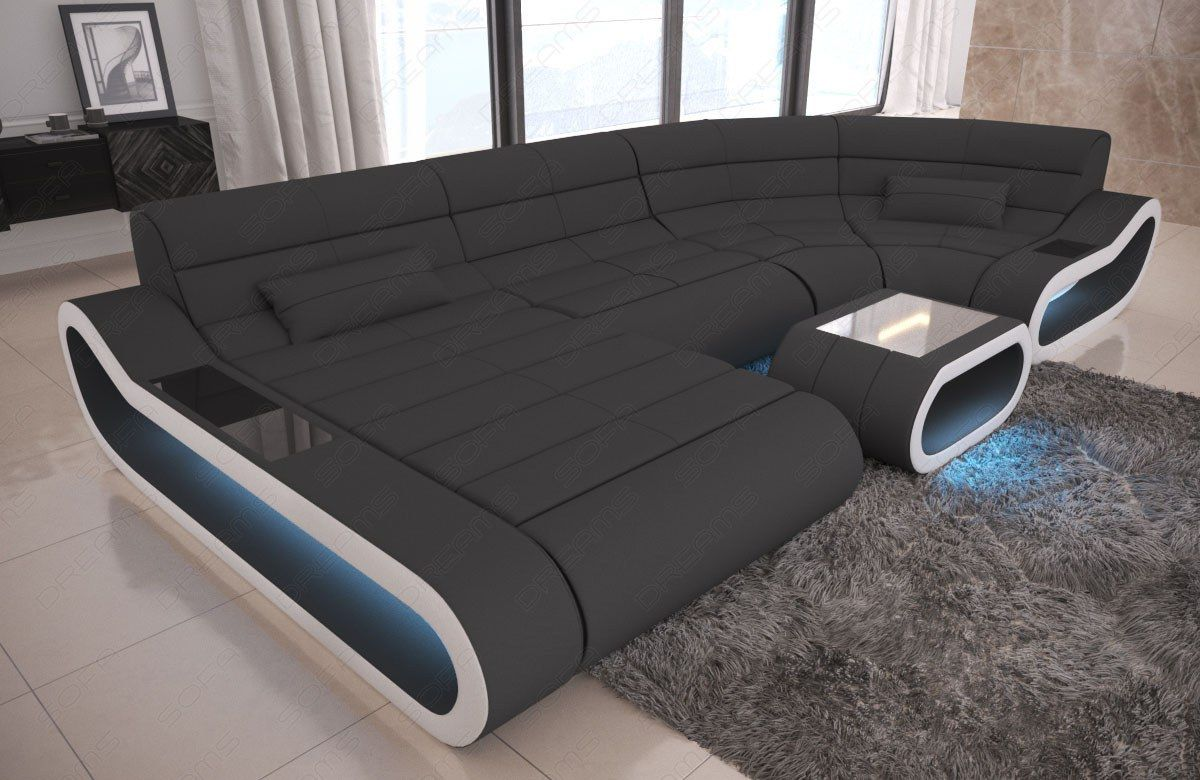 Fabric Big Concept U Shape Sectional Luxury Sofa Design Couch Led Light White Sofa Ideas Of White Sofa Whitesof Luxury Sofa Design Sofa Design Luxury Sofa