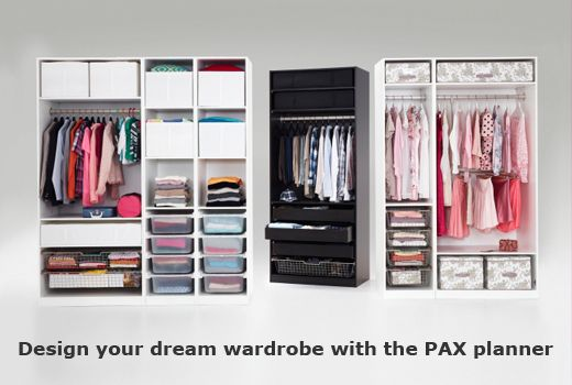 PAX Fitted Wardrobe Planner for the girls closet... And
