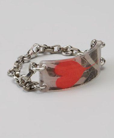 Look what I found on #zulily! Red Grafitti Heart Fortune Holder Bracelet by FortuneKeeper #zulilyfinds