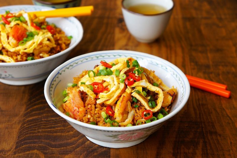 Spicy Thai Crab Fried Rice