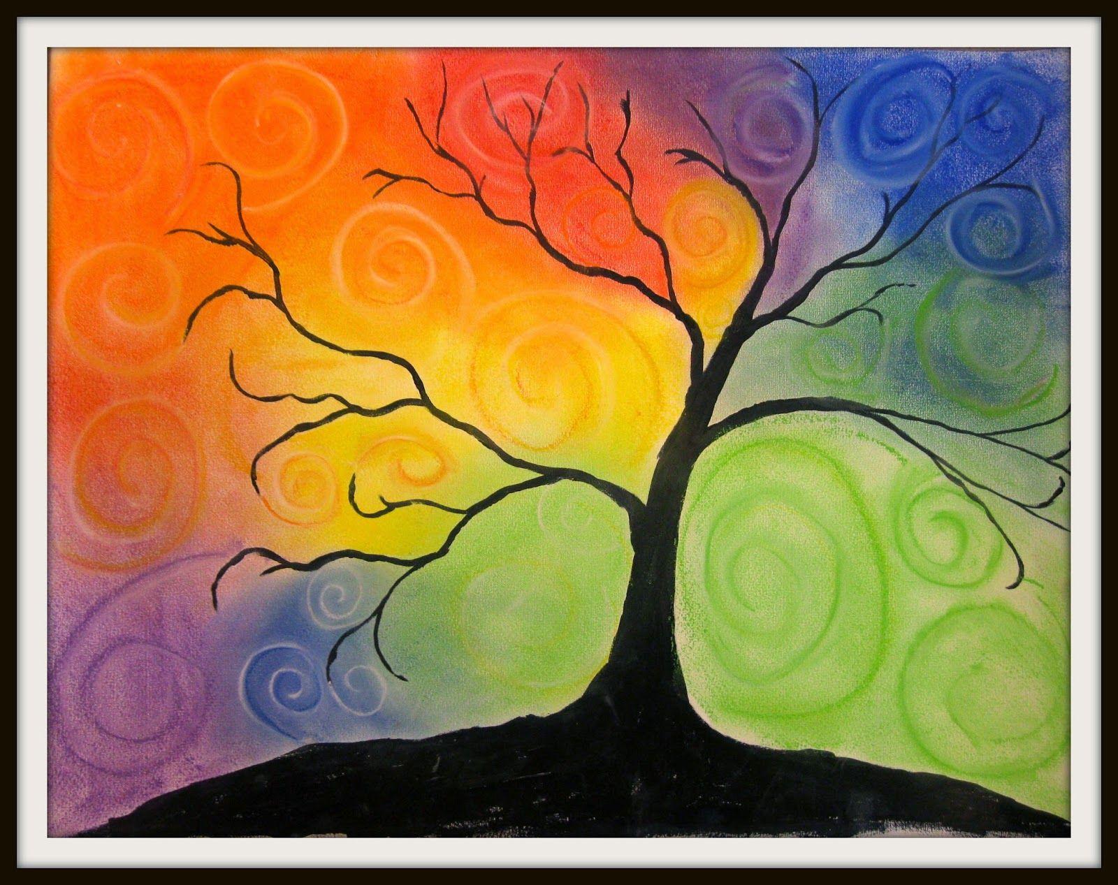 Swirl Color Tree 2   Art class ideas   Trees 2   Pinterest   Tree ...