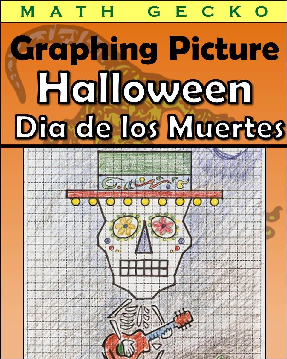 Fun Graphing Activity For Halloween Or Dia De Los Muertos Students Graph Coordinates In Q Coordinate Graphing Pictures Coordinate Graphing Graphing Activities [ 1200 x 960 Pixel ]