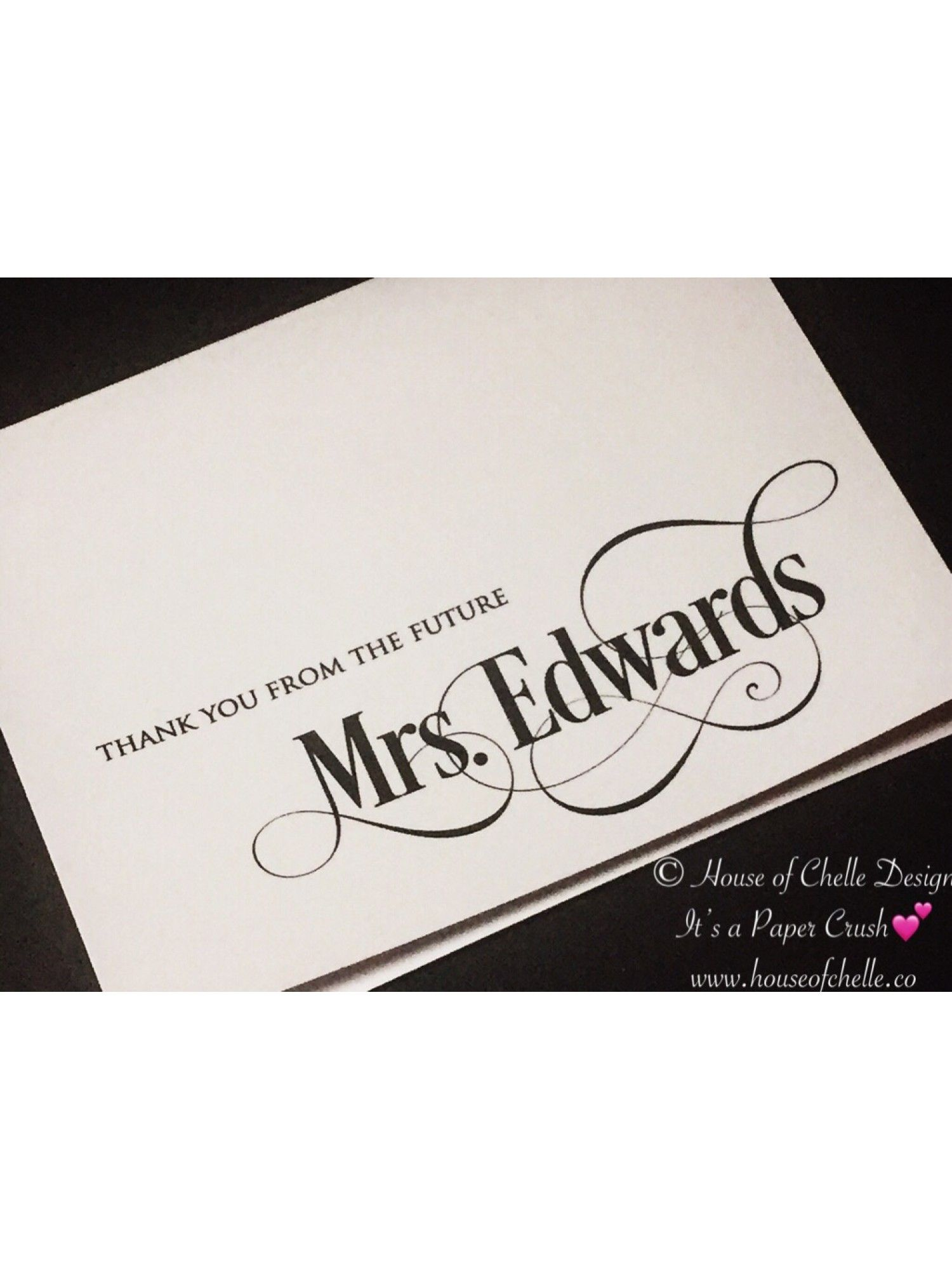 bridal shower thank you cards wedding thank you cards personalized note cards personalized