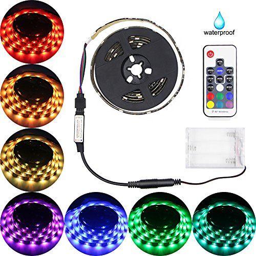 Led Strip Lights Battery Powered Abtong Rgb Led Strip Rop Https Www Amazon Com Dp B06y5 Waterproof Led Lights Led Strip Lighting Flexible Led Strip Lights