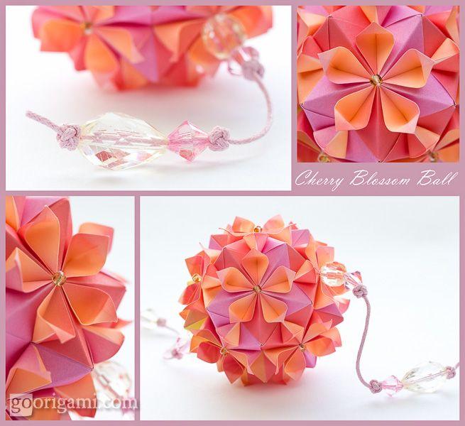 Cherry Blossom Ball Cherry Blossom Origami Origami Crafts Origami And Kirigami